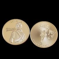 Free shipping 5pcs/lot Pop King Michael Jackson souvenir coin, MJ 24KT Gold clad plated commemorative metal coin