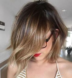 04 choppy bob haircut with brunette balayage looks cute and chic - Styleoholic