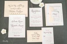 Elegant Wedding Invitation Calligraphy Wedding by Shnabby on Etsy