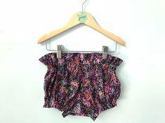 Purple High Waist Bloomers // Baby Girls Bloomers // Cotton Bloomers // Baby Bloomers // Diaper Cover // Cotton High Waist Bloomers