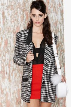 Vintage Checkin' Out Blazer | Shop Vintage at Nasty Gal