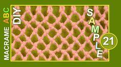 How to macrame fishnet (to display seashells)