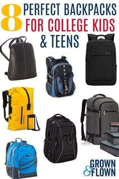 f you're looking for a backpack for college or for a unique backpack for your teenager, these are some of the perfect backpacks for older kids and young adults. These college backpacks make a great addition to your college packing list. Saving For College, College Fun, College Ready, College Tips, Best Backpacks For College, College Packing Lists, High School Life, Middle School, Sat Prep