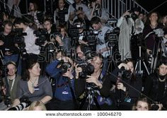 Moscow - March 25: Press Photographers At The Photographers Platform At Yez By Yegor Zaitsev For Fall Winter 2012 Presentation During Mbfw On March 25, 2012 In Moscow, Russia Stock Photo 100046270 : Shutterstock