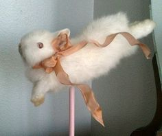 Lauren Kane - Leaping Taxidermy Dwarf Rabbit