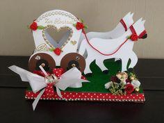 Geldgeschenke - Zauberhafte Hochzeitskutsche ! (Geldgeschenk ) - ein Designerstück von INGE54 bei DaWanda