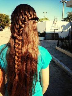 long hair with braid