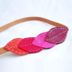 Felt headband - leaves