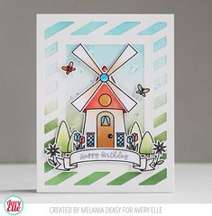 Hi all! Today I want to share my card for Avery Elle featuring Windmill stamp set . This set is so pretty and versatile for any theme. ...