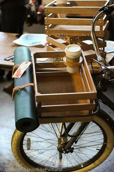 diy wood bike basket - Google Search