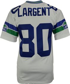 Mitchell  amp  Ness Men s Steve Largent Seattle Seahawks Replica Throwback  Jersey Nfl Jerseys f3bdf89d4