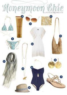 Honeymoon Essentials...love the one piece!