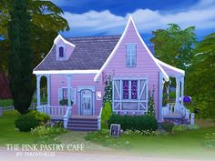 The Pink Pastry Cafe by periwinkles at TSR via Sims 4 Updates