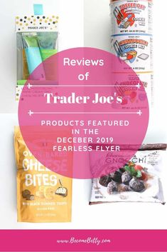 Trader Joe's December 2019 Fearless Flyer has landed. If you need to know what is worth your money then check out my matchups where I match reviews from around the web with items featured. | Become Betty @becomebetty #traderjoes #fearlessflyers #bestoftraderjoes #traderjoesdesserts #traderjoeslove #traderjoesdiditagain #traderjoesfan #traderjoesinsider #traderjoeshaul #traderjoesfinds #traderjoesreview #becomebetty Vegetarian Shopping List, Trader Joes Vegetarian, Trader Joes Food, Shopping Lists, Trader Joe's Pasta, Joe's Seafood, Weight Watcher Shopping List, Trader Joe's Cheese, Best Trader Joes Products