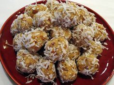 Orange blossom balls:1 box vanilla wafers, crushed   1 can(s)  6 oz. orange juice concentrate, thawed, undiluted   1 c  confectioners' sugar   1 c  finely chopped nuts, your choice   1 pkg  coconut, flaked sweetened   Crush vanilla wafers very fine. Mix with sugar   Add undiluted juice and nuts. Mix well.   Shape into small balls. Roll in coconut.   Store in airtight container in refrigerator