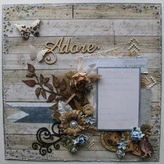 Reserved Listing For Pam, Premade Scrapbook Page 12 x 12, Shabby Chic. via Etsy.