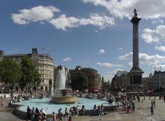 Trafalgar Square, Nelson's Column - we go here a lot!