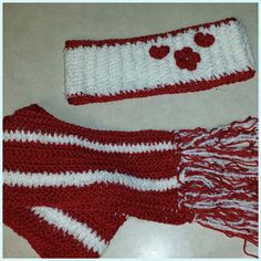 Extra long scarf and ear warmer set. $10