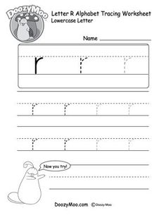 "Lowercase Letter ""r"" Tracing Worksheet - Doozy Moo Handwriting Worksheets For Kindergarten, Printable Handwriting Worksheets, Alphabet Tracing Worksheets, Printable Alphabet Letters, Alphabet Writing, Tracing Letters, Preschool Letters, English Alphabet, Alphabet Crafts"