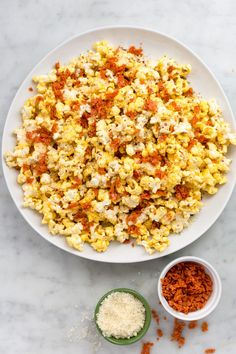 Pizza Popcorn-Because you've already turned French fries, stuffed mushrooms, zucchini coins and fondue into pizza. Popcorn is the next frontier.
