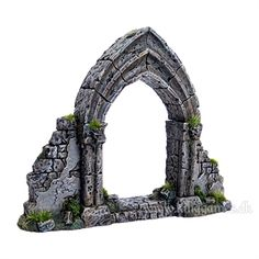 Ruined Gothic Archway from Grendel - Fantasy Dungeon Terrain for Miniatures Dnd Mini, Castle Crafts, 28mm Miniatures, Warhammer Terrain, Game Terrain, Flow Painting, Medieval Houses, Gothic Furniture, Garden Arches