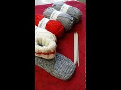 Pantoufle bas de laine première partie - YouTube Knitting Videos, Knitting For Beginners, Knitting Projects, Crochet Projects, Knitting Patterns, Crochet Patterns, Love Crochet, Crochet Gifts, Crochet Yarn