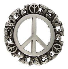 100210-40 Peace Sign Belt Buckle