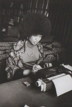 """""""Radical simply means """"grasping things at the root."""" ― Angela Y. Davis Angela Davis, Art Afro, Black Panther Party, Black Power, Vintage Black, Black History, Portraits, Power To The People, Black People"""