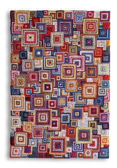 Hooked Rug But Would Make A Fabulous Crochet Blanket