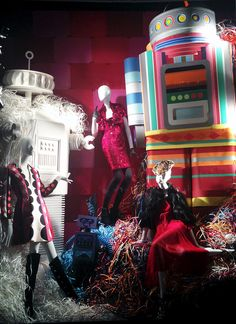 """Bergdorf Goodman,New York,""""Robin....let'snot kid ourselves here,robots already run most of our world,we'll be there butlers soon enough"""", pinned by Ton van der Veer"""