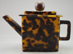 Collectible Decorated Old Handwork Tortoise Shell Carved Usable Tea Pot picclick.com