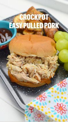 Slow Cooker Pork, Slow Cooker Recipes, Crockpot Recipes, Cooking Recipes, Easy Pulled Pork, Pulled Pork Recipes, Slow Cooker Pulled Pork Recipe, Crock Pot Pulled Pork, Crock Pot Cooking