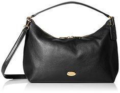 Women's Shoulder Bags - Coach Womens East West Celeste Convertible Hobo Black ** Want additional info? Click on the image.