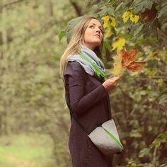 KOMIN TUBA SZAL PISTACHIO (sprzedawca: purol design), do kupienia w DecoBazaar.com #bag #gray #tubescarf #green #leaf #autumn