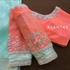 Saree Jacket Designs, Pattu Saree Blouse Designs, Blouse Designs Silk, Designer Blouse Patterns, Bridal Blouse Designs, Latest Saree Blouse Designs, Kurta Designs, Blouse Styles, Blouse Back Neck Designs