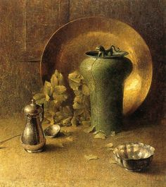 Dines Carlsen - Still Life with Pewterware and Brass Bowl by irinaraquel, via Flickr