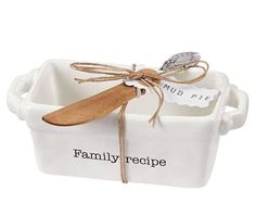 Family Recipe Mini Loaf Server with Spreader by Mud Pie