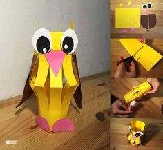 In this amazing paper crafting idea you would be finding a adorable designed cute owl shape animal image. For creating this design work, you would require a hard paper material in about three different color shape with a glue and a scissor. It do demand for a little perfection because of the creative cuts into it.