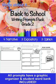 Back to school writing plans are easier with this common core aligned pack. There are prompts for each of the 3 types of writing, each prompt has a graphic organizer and word bank to help teachers and students be successful teaching the common core! Writing Curriculum, Writing Lessons, Teaching Writing, Writing Prompts, Phonics Lessons, Phonics Activities, Writing Activities, Teaching Sight Words, Writing Plan