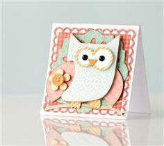 Whooo loves crafting? We do! This owl card gets lots of fun texture with his embossed feathers using the Cuttlebug® Decorative Scallops Folder!