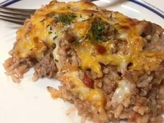 21 Day Fix Zesty Ranch Bake Recipe Main Dishes with lean ground turkey, diced tomatoes, tomato sauce, quinoa, shredded cheese, fresh parsley, dried dill, garlic powder, onion powder, sea salt, pepper