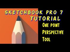Sketchbook pro 7 Tutorial One point perspective tool - YouTube