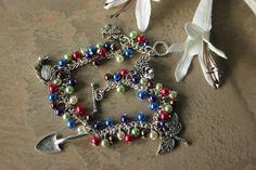 Gardening themed charm bracelet