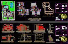 Plan Autocad dwg d'une magnifique villa