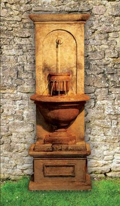 Vivanda Flat Wall Fountain 5612F2 by Henri Studio  can be purchased at http://apollostatuary.com/index.php?main_page=product_info&cPath=43_45&products_id=658