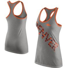 $31.95 Women's Nike Gray Denver Broncos Warp Tri-Blend Performance Tank Top