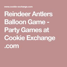 Reindeer Antlers Balloon Game - Party Games at Cookie Exchange .com