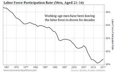 lifetime earnings of American men are on a slow, inexorable decline Forced Labor, Economics, Marketing, American, Men, Guys, Finance