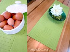 Pretty Pleated Squares Table Runner  | Sew4Home