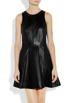 Just a little leather. (Rag & bone|Renard leather dress|NET-A-PORTER.COM)